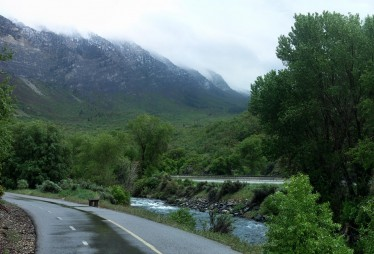 Rain over Provo Canyon