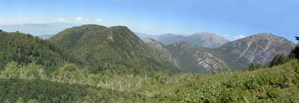 The top provided great views of the surrounding mountains